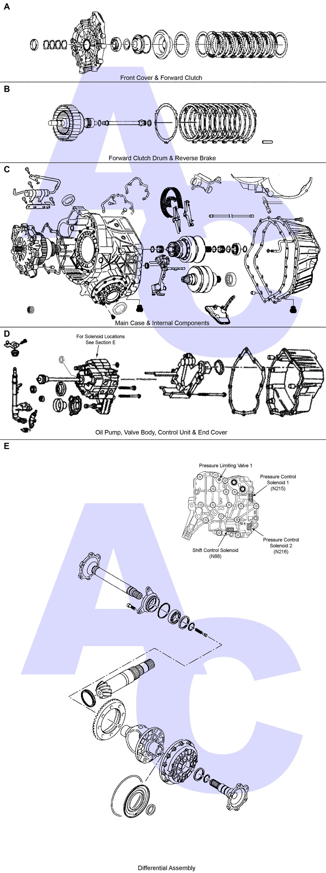 01J & 0AN CVT Transmission Parts Catalogue - Automatic Choice