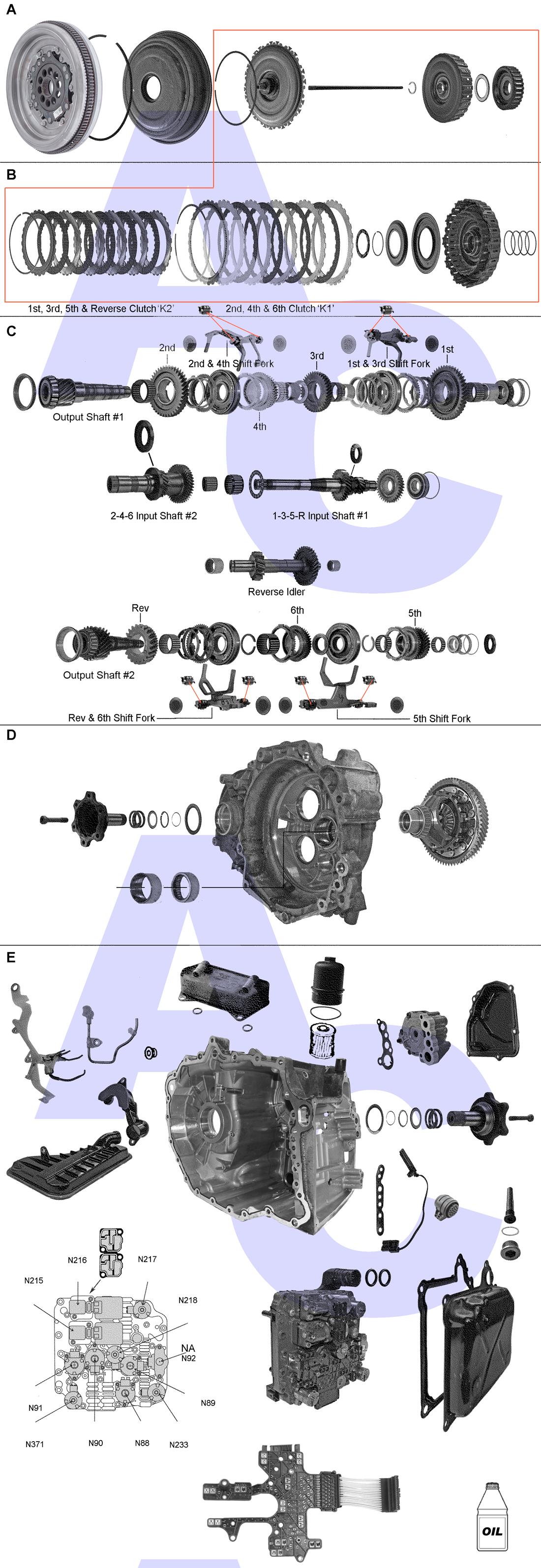 02E Dual Clutch Transmission Parts Catalogue - Automatic Choice