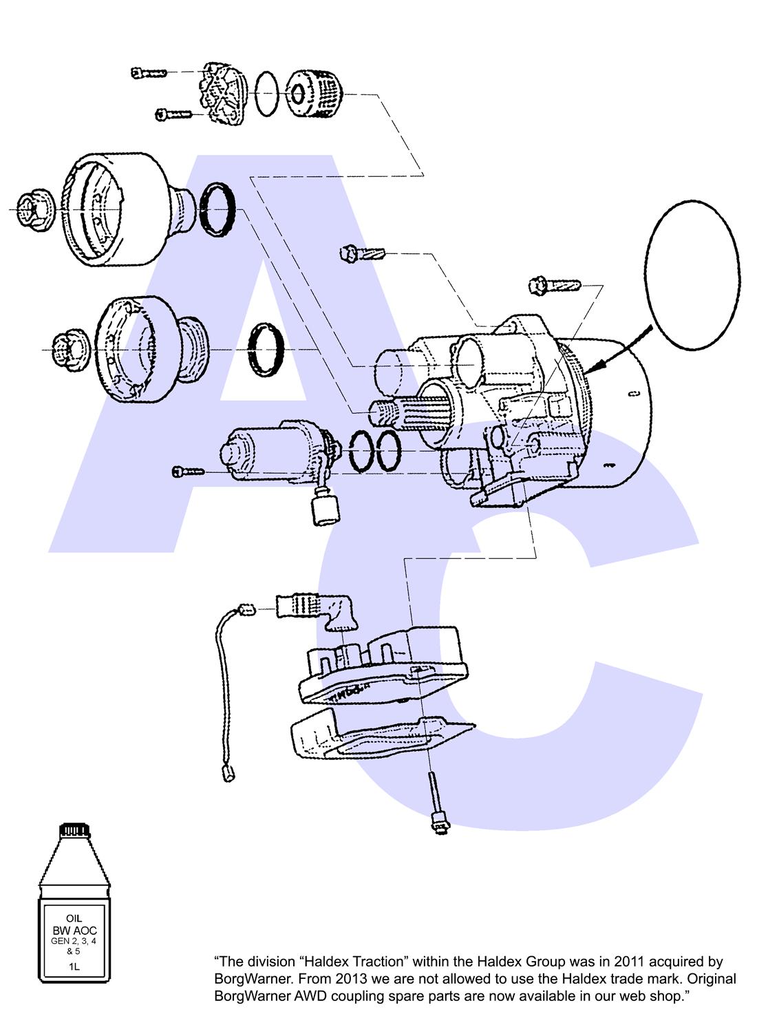 Borg Warner Generation 4, Active On demand Coupling (AOC) Parts