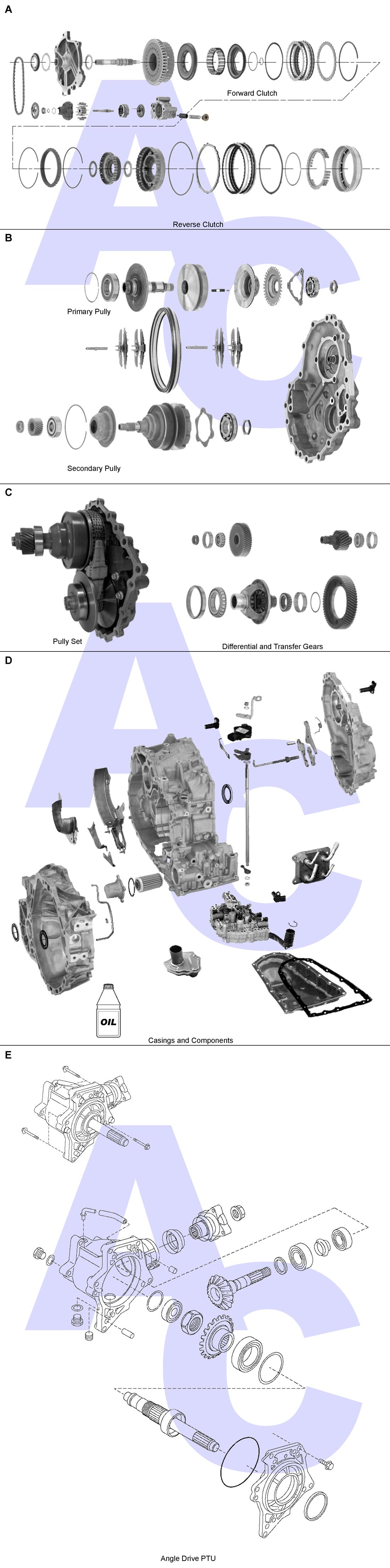 JF016E CVT Transmission Parts Catalogue - Automatic Choice